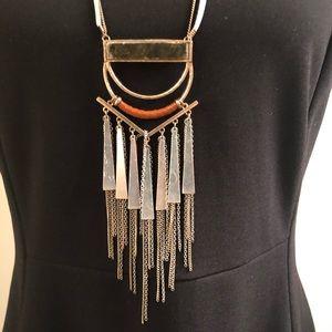 Jewelry - Boho metal fringe pendant
